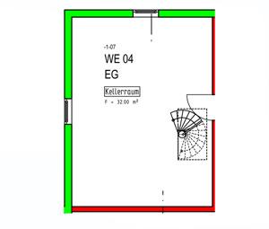 Hobbyraum Wohnung 4 und 14 3. und 4. BA