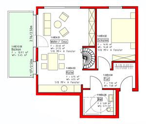 Wohnung 4 und 14 im 3. und 4. BA